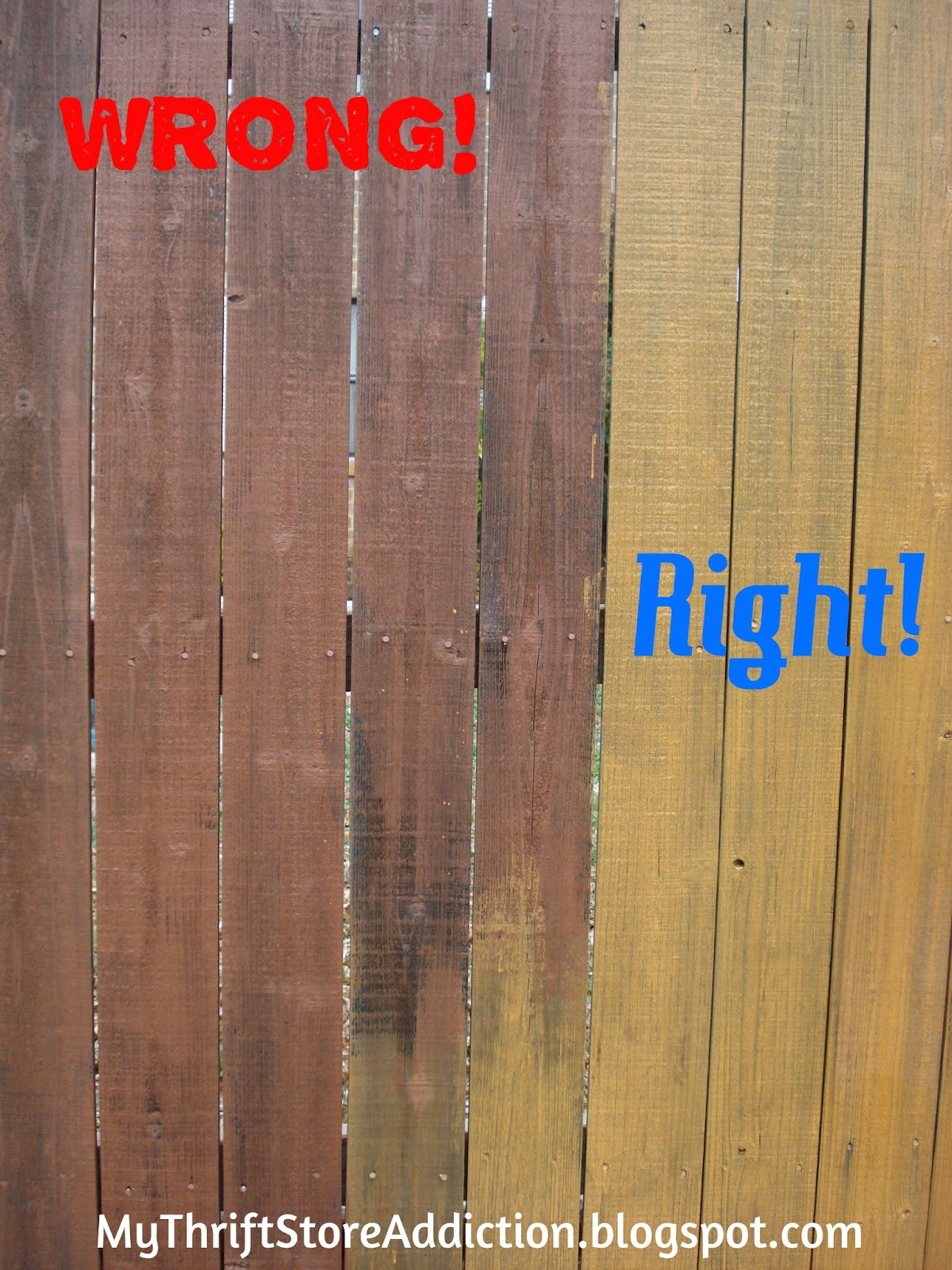 DIY wood fence stain