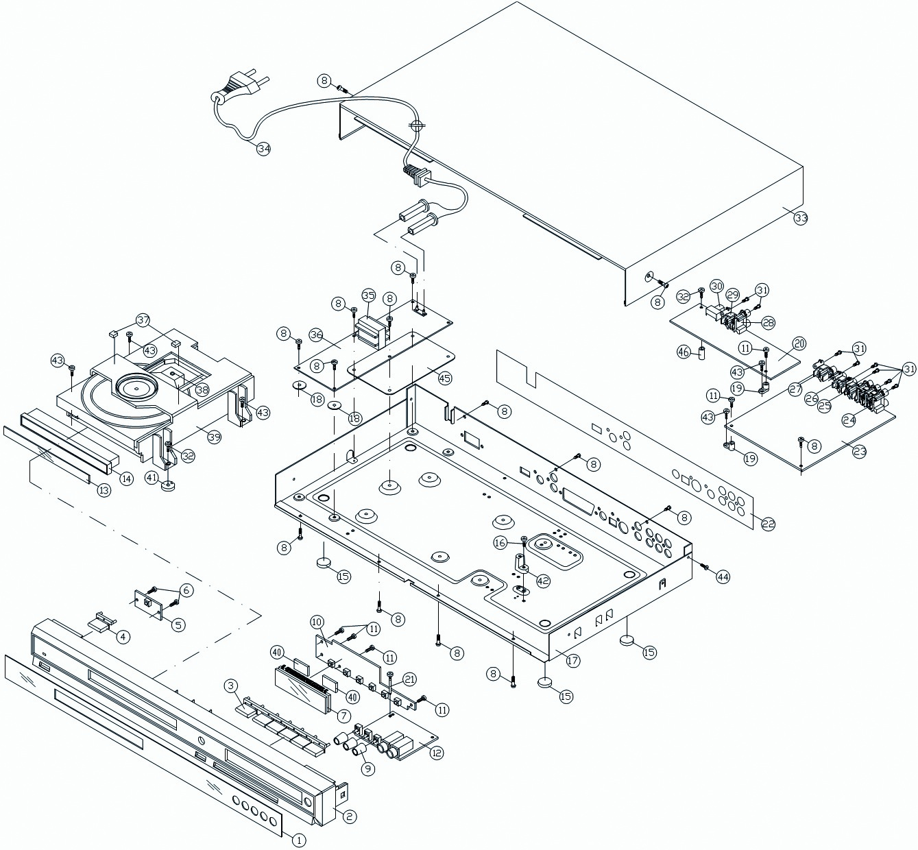 Akira DVD 2012SE – SMPS Circuit Diagram