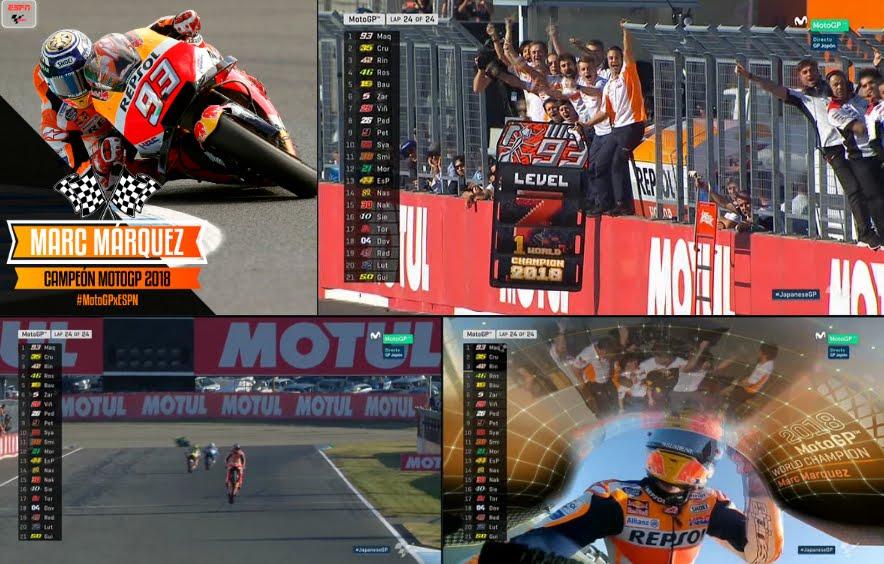 Marc Marquez è Campione del Mondo MotoGP 2018, settimo titolo per il pilota della Honda.