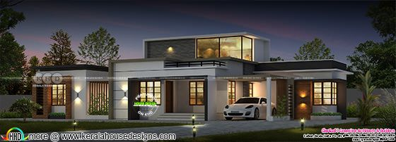 Wide residence design single floor home design 1628 sq-ft