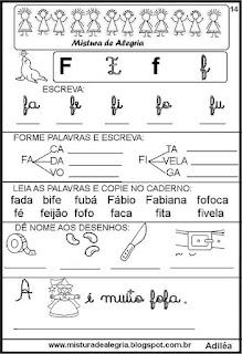 Livro famílias silábicas letra F