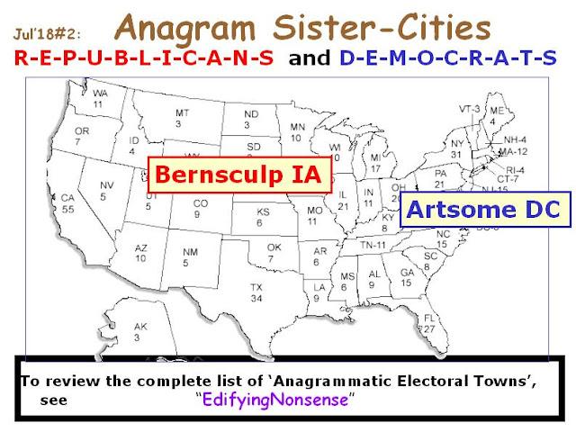 REPUBLICANS: Bernsculp IA.  DEMOCRATS: Artsome DC