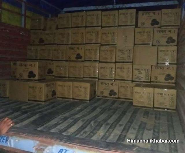 नगरोटा बगवां में पुलिस ने ट्रक से बरामद की शराब की 400 पेटियां, सिरमौर से ला रहे थे खेप Kangra News
