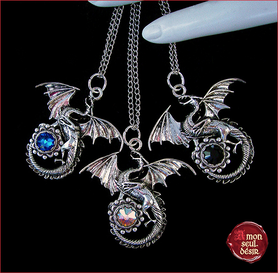 colliers dragons dracarys daenerys targaryen necklaces jewelry fantasy medieval mythical creature