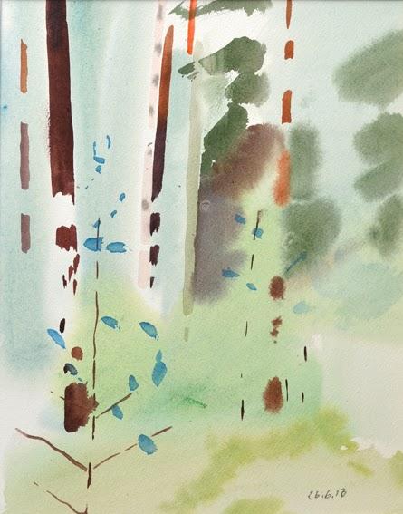 Flodande akvarelltrappa