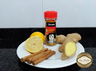 Infusion de canela limon y jengibre