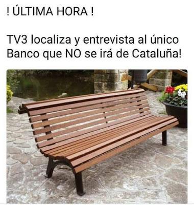 Tv3 localiza y entrevista al único banco que no se irá de Cataluña
