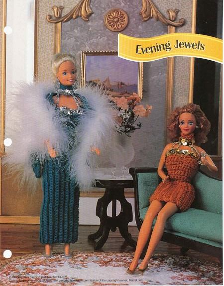Vestido de crochê Festa para Barbie
