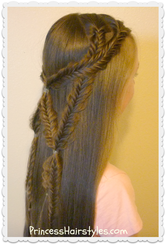 Angel Wings, Fishtail Braid Tie Back Hairstyle - Hairstyles For ...