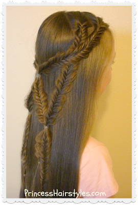 Gorgeous braided hairstyle, the angel wings fishtail braid tie back