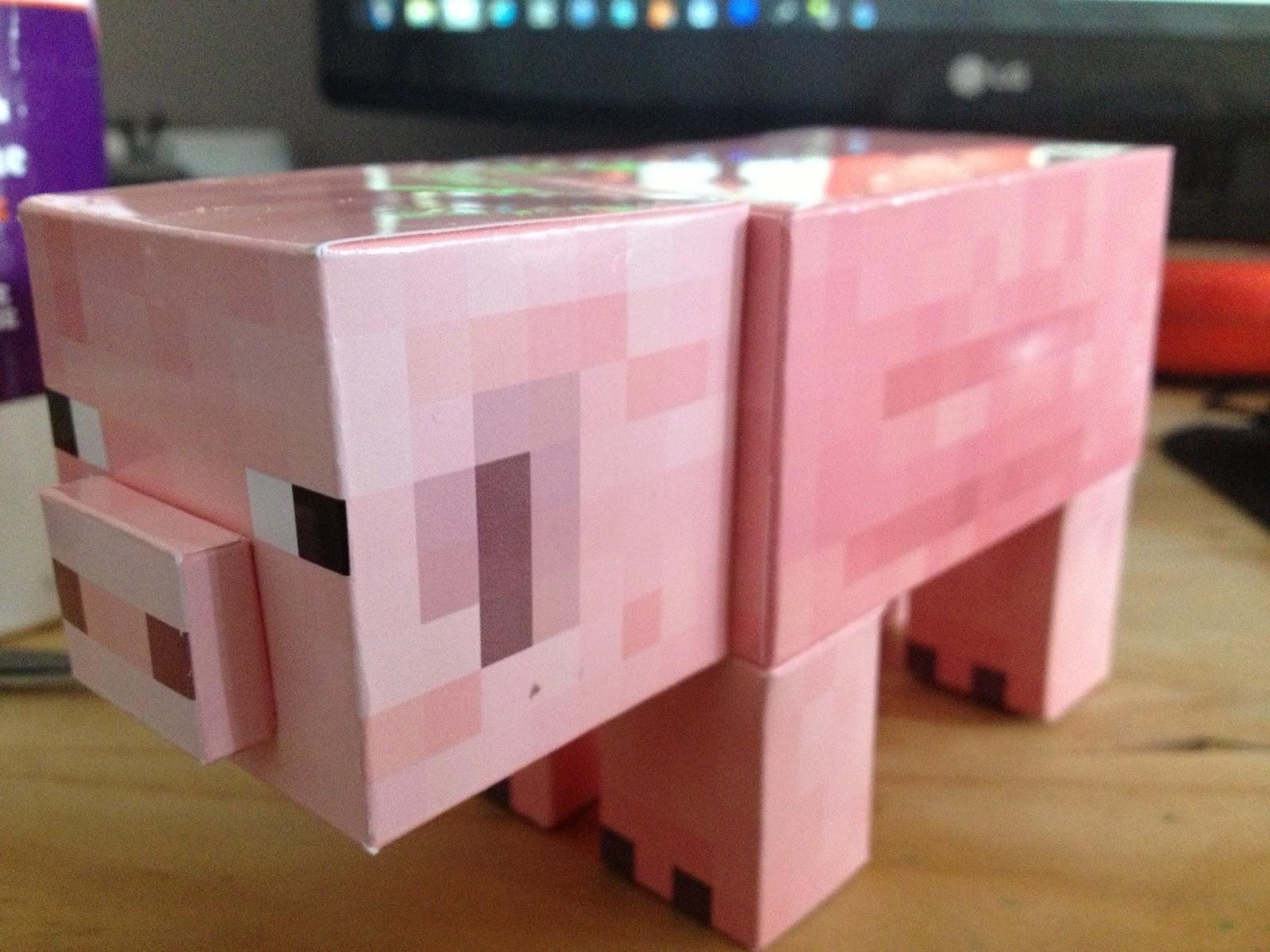 how to make a paper minecraft pork
