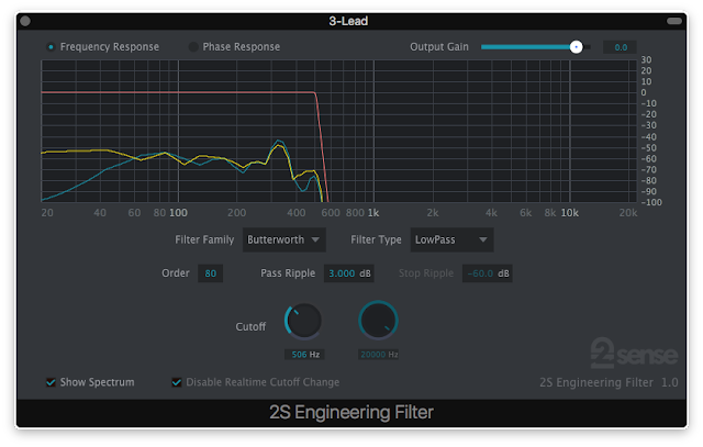 2nd Sense Engineering Filter Frequency Shaping Software Plug-in for Mixing Purposes