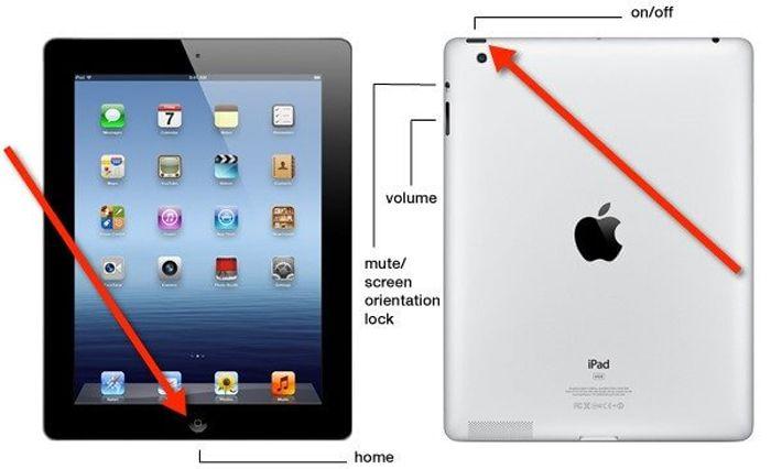 Reboot iPad kamu saat membeku