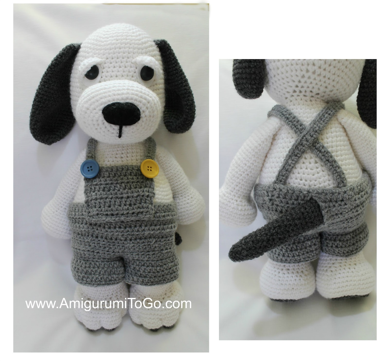 Overall Shorts For Cuddle Me Puppy ~ Amigurumi To Go