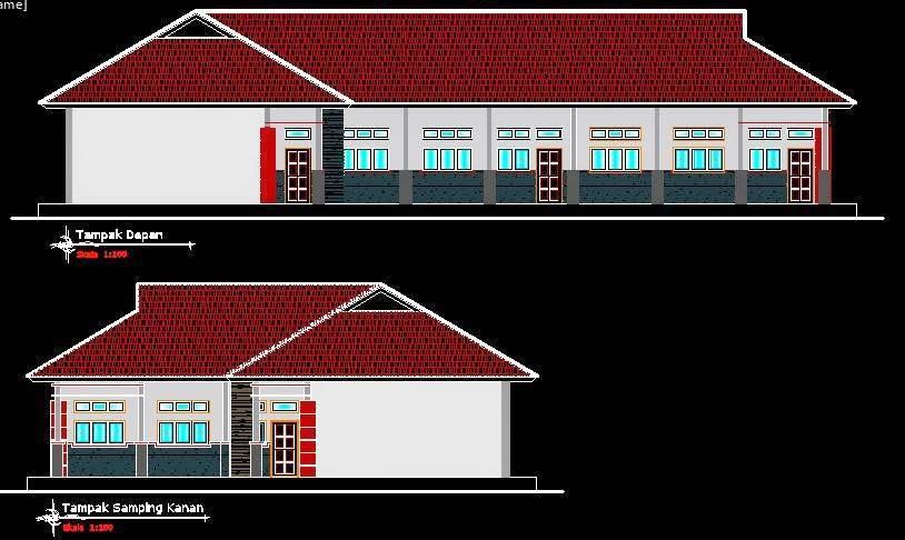 Gambar Kanopi Minimalis 2018  renovasi rumah desain autocad gambar sekolah smpn minimalis