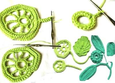 Hojas de crochet paso a paso 1 tutorial