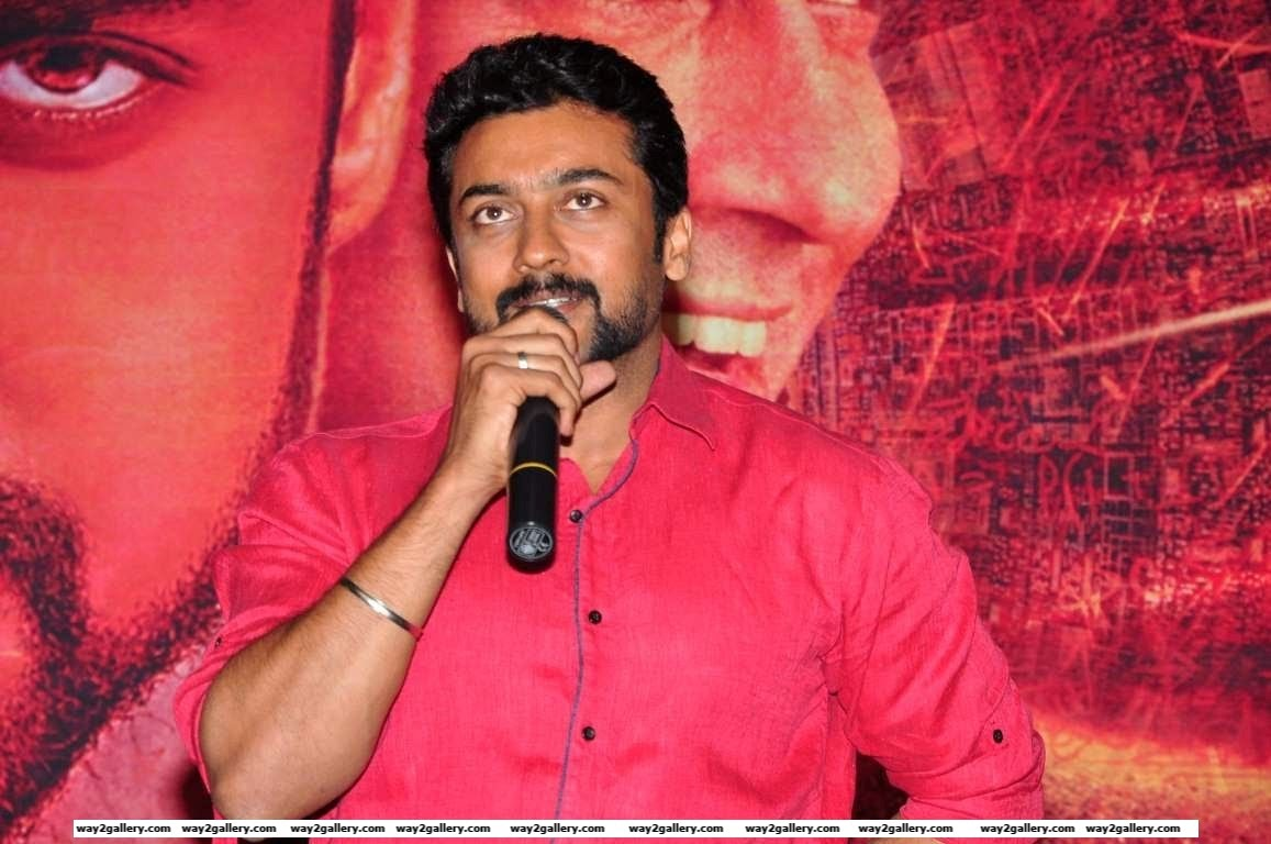 Suriya attended the press meet of Tamil film