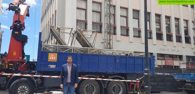 Comienza la reforma de la fachada y cubierta del edificio del Cabildo Insular de La Palma
