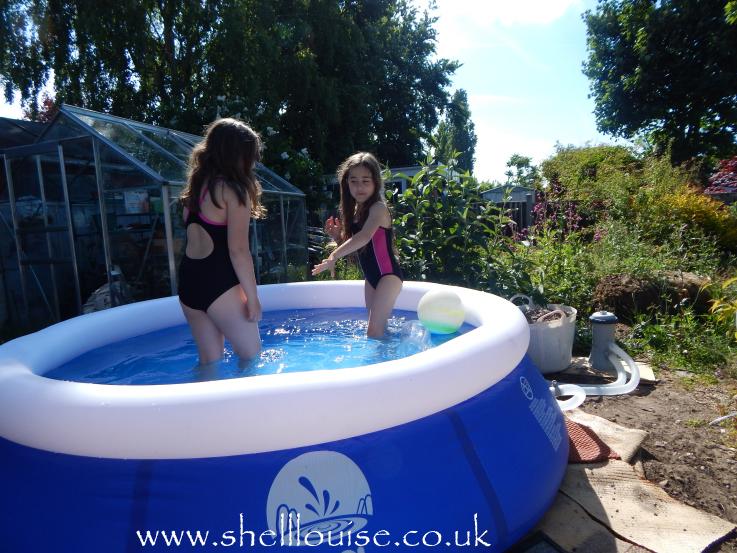Pool - KayCee and Ella love our new 8ft paddling pool