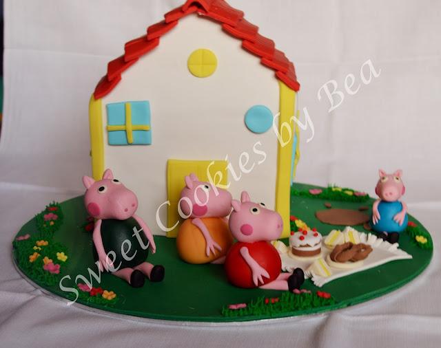 Tarta casa Peppa Pig