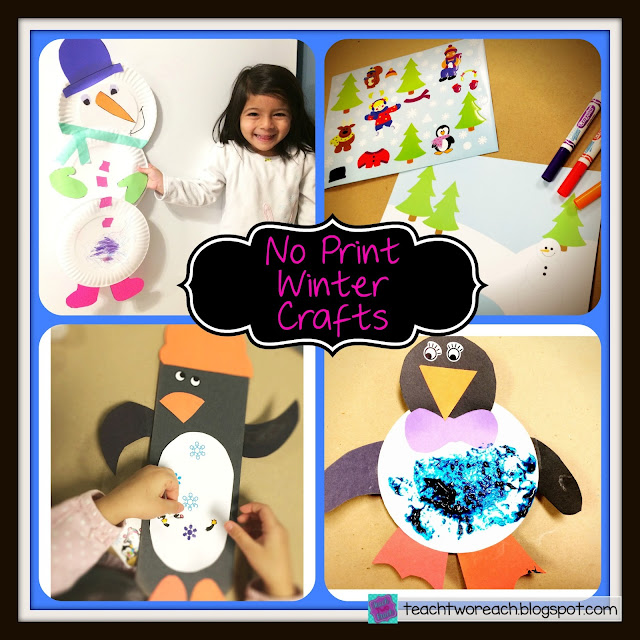 Want easy to prep WINTER CRAFTS that require ZERO printing or photocopying?