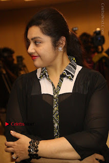 Tamil Actress Meena Latest Stills in Black Dress at TSR TV9 Awards Press Meet  0075.JPG