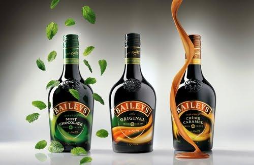 Drainpipe – 1 oz. Baileys Irish Cream, 1 oz. Green Curacao liqueur, and Coca-Cola. Ice Cream Hogarth – 2 oz. Baileys Irish Cream, 4 oz. vanilla ice cream, and 3 tbsp. maple syrup. Irish Curdling Cow – 3/4 oz. Baileys Irish Cream, 3/4 oz. bourbon whiskey, 3/4 oz. vodka, and 3 oz. orange juice.
