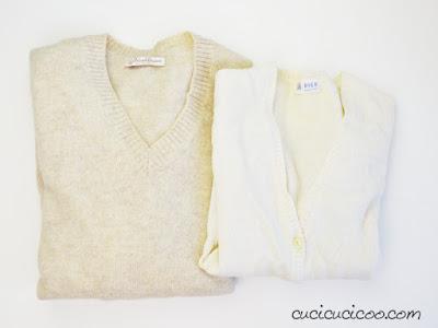 recupero di maglioni di lana