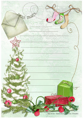 free childrens letter to santa pretty paper