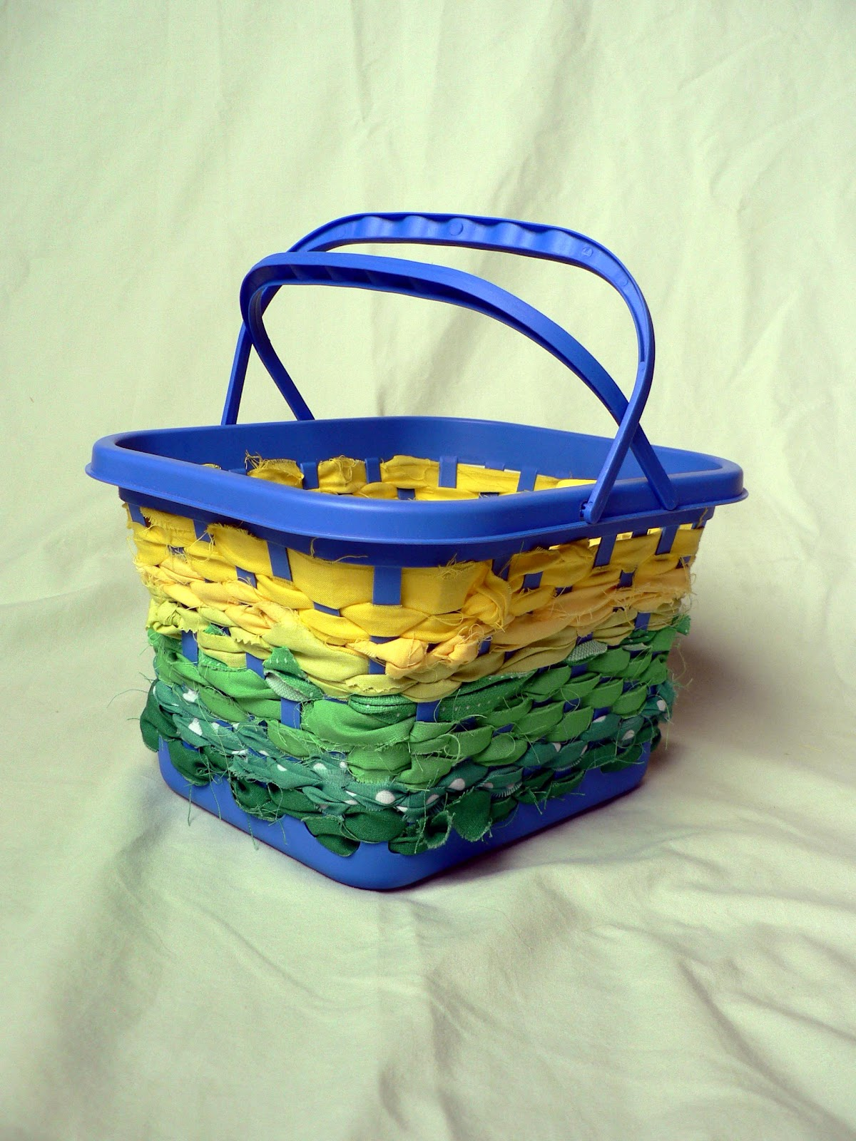 How to: No Sew Scrap Fabric Basket - Bless This Mess