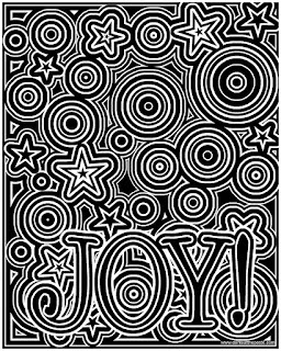Joy coloring page- available in a black on white version as well in both JPG and transparent PNG format. #coloring