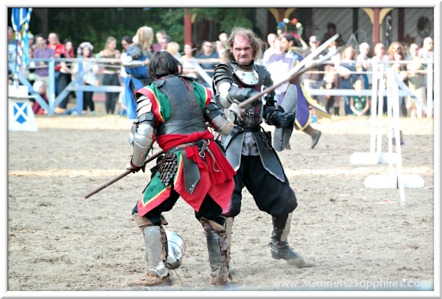 King Richard's Faire - Joust to the Death | 3 Garnets & 2 Sapphires