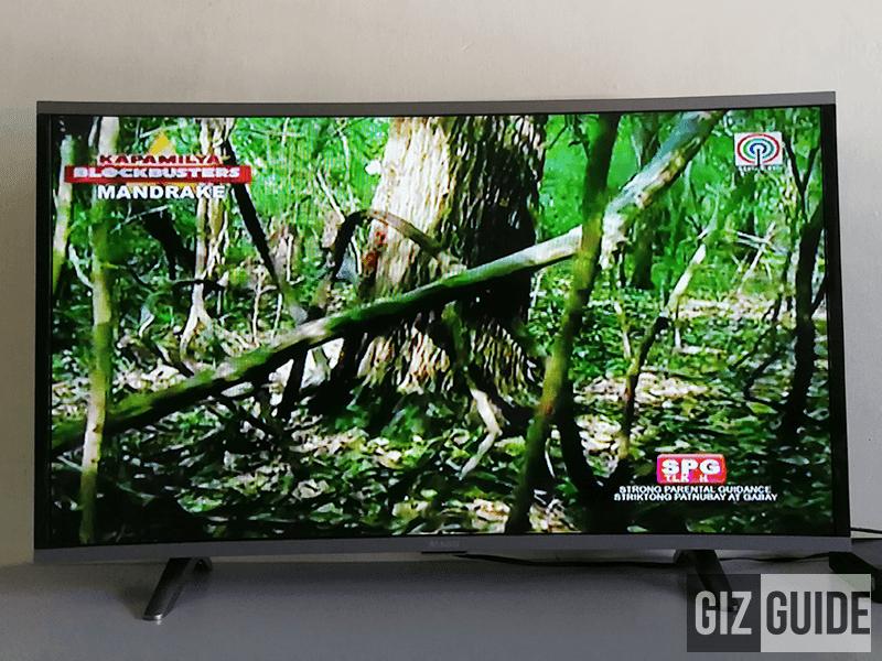 Big 40-inch screen