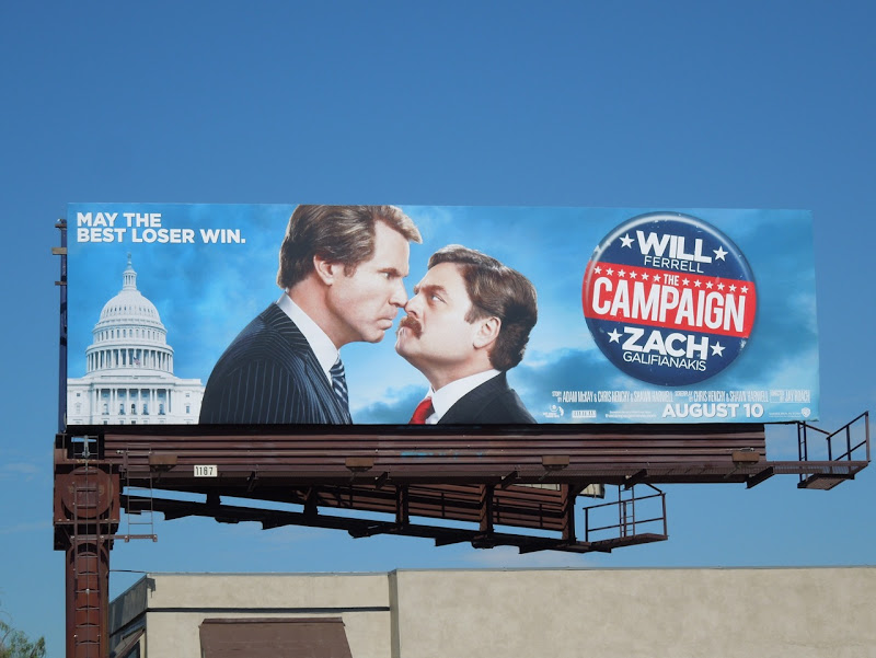 The Campaign movie billboard