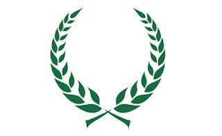 corona di alloro di cesare verde