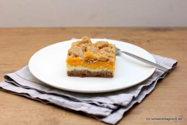 Kürbis-Cheesecake-Schnitte