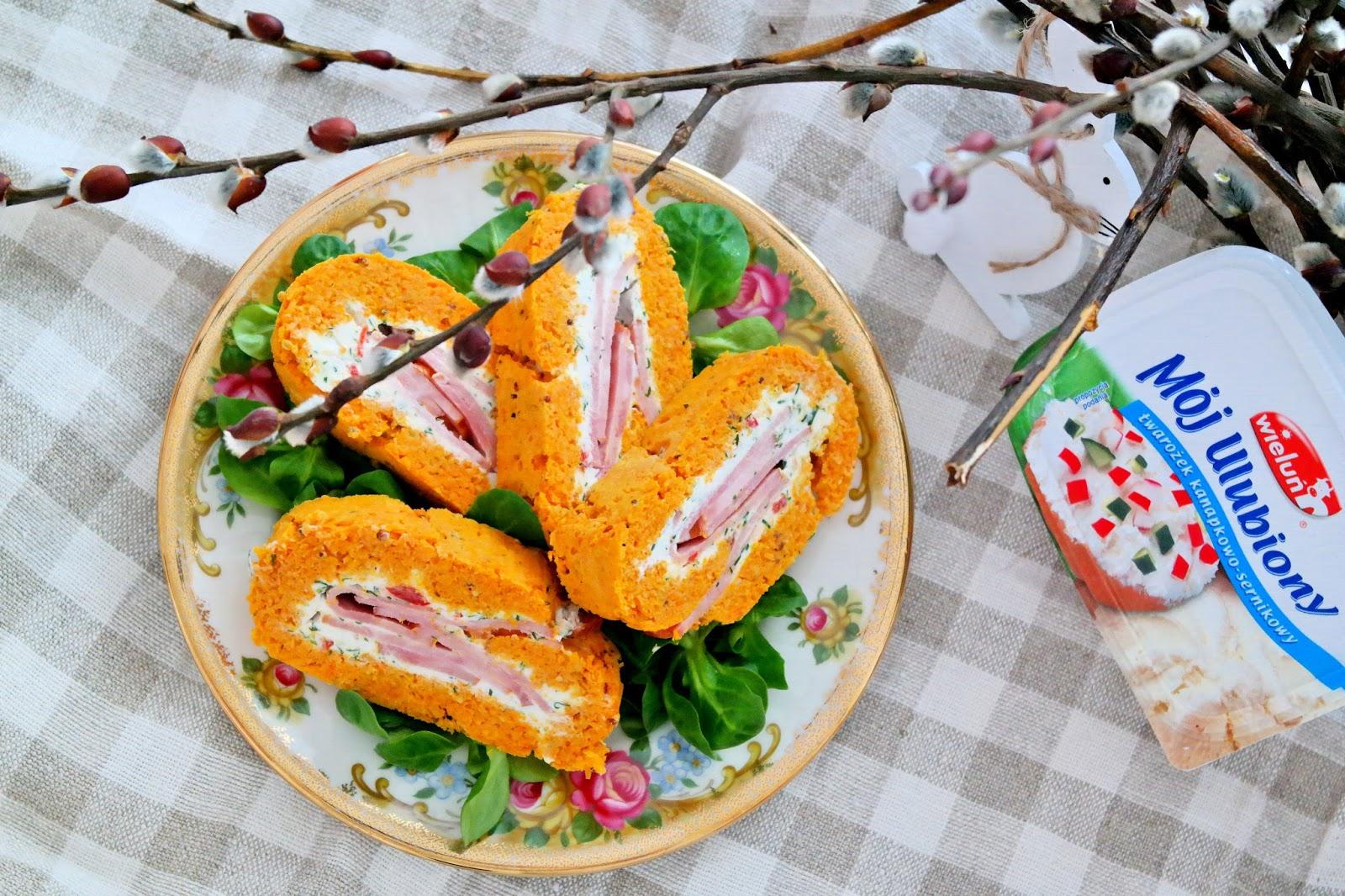 rolada marchewkowa ciasto