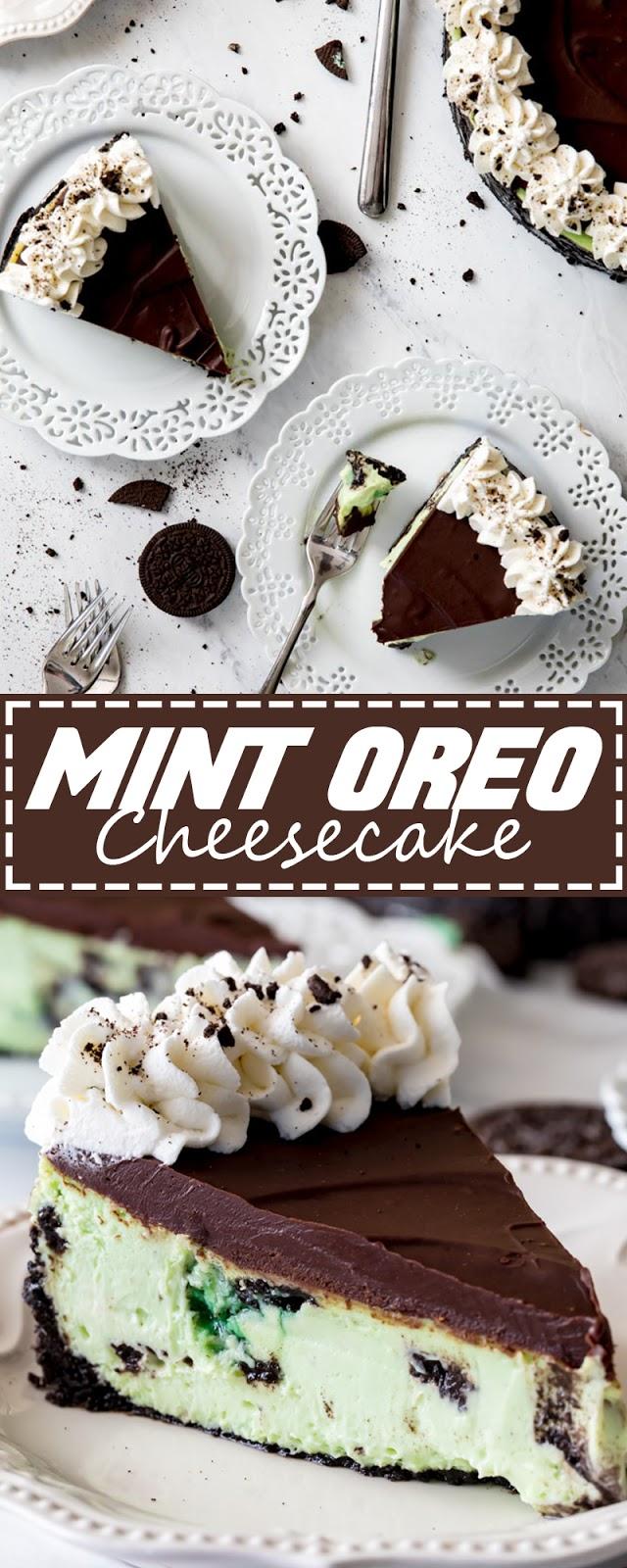 MINT OREO CHEESECAKE