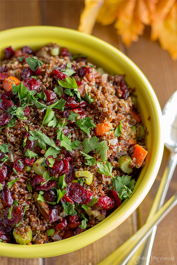 Cranberry Pecan Quinoa Dressing by Gluten Free Yumms