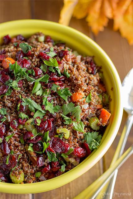 Cranberry Pecan Quinoa Dressing by Gluten Free Yumms