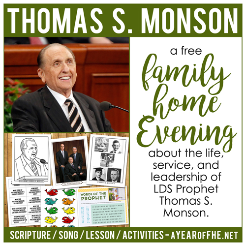 Lds Quotes On Family Home Evening: A Year Of FHE: Year 02/Lesson 39: President Thomas S