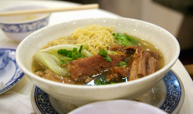 Beef Brisket Noodles is a popular dish in Hong Kong.