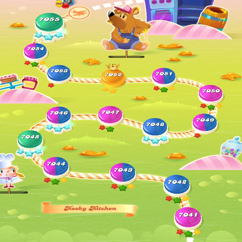 Candy Crush Saga level 7041-7055