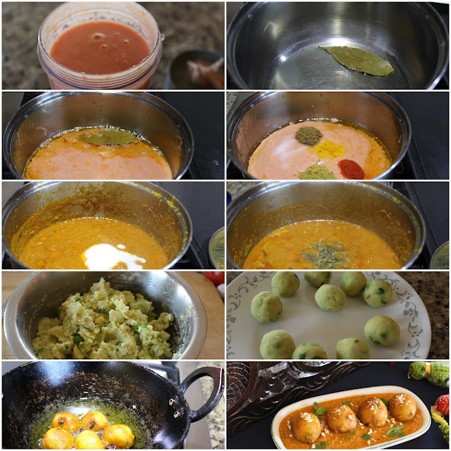 images of Aloo Kofta Curry Recipe / Potato Kofta Curry / Kofta Curry Recipe