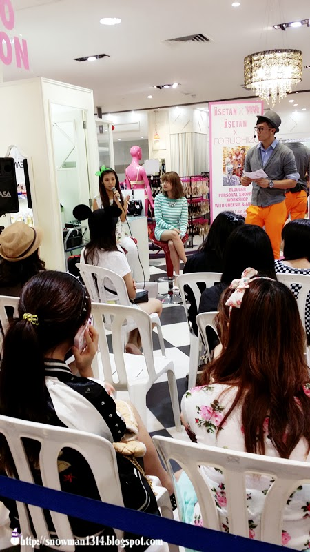Blogger Personal shopper workshop with Cheesie and Audrey