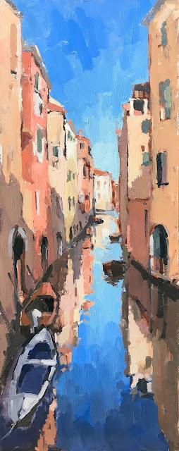 #415 'Venice Reflections 2' 20x50cm