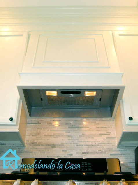 how to build a range hood with insert