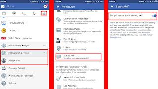 langkah mematikan dan menyembunyikan status online facebook