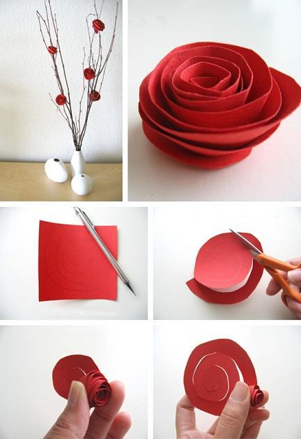 2-diy-flores-de-papel-para-qualquer-ocasião-arranjo-de-rosa-vermelha-de-papel
