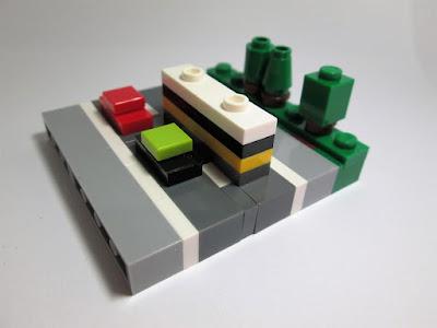 MOC LEGO Micro paisagem Táxi e Carris